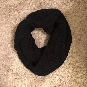 Black sweater infinity scarf